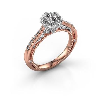 Verlobungsring Abbey 585 Roségold Diamant 0.508 crt