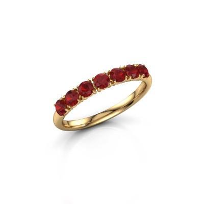 Foto van Ring Vivienne Half 375 goud robijn 2.9 mm