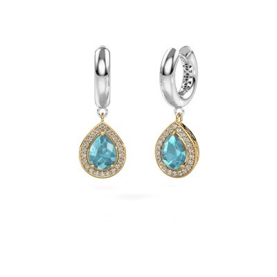 Picture of Drop earrings Barbar 1 585 gold blue topaz 8x6 mm