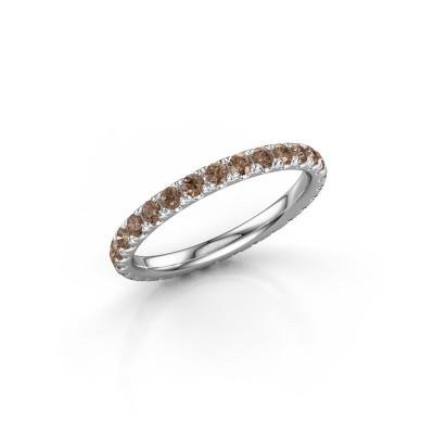 Foto van Aanschuifring Jackie 2.0 585 witgoud bruine diamant 0.87 crt