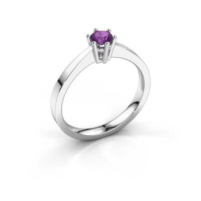Engagement ring Noortje 950 platinum amethyst 4 mm