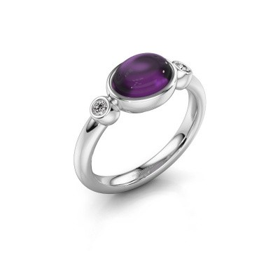 Ring Liane 925 silver amethyst 8x6 mm