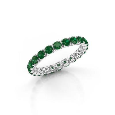 Foto van Ring Vivienne 2.7 950 platina smaragd 2.7 mm