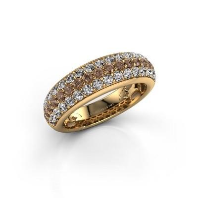 Foto van Ring Emely 8 375 goud bruine diamant 1.316 crt