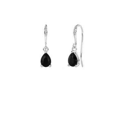 Oorhangers Laurie 2 375 witgoud zwarte diamant 0.78 crt