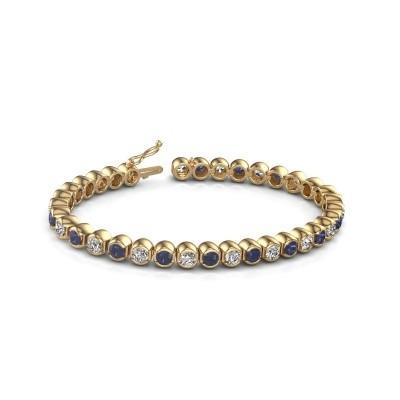 Tennis bracelet Bianca 375 gold sapphire 4 mm
