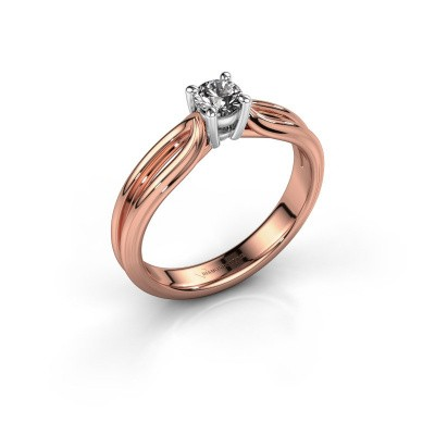 Bague de fiançailles Antonia 1 585 or rose diamant 0.30 crt