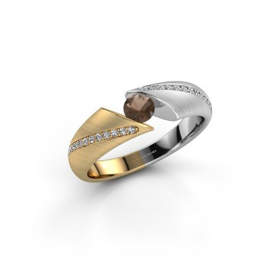Foto van Ring Hojalien 2 585 goud rookkwarts 4 mm