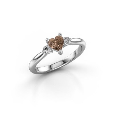 Foto van Verlovingsring Lieselot HRT 925 zilver bruine diamant 0.61 crt