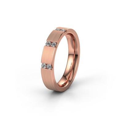 Trouwring WH2133L14BM 375 rosé goud diamant ±4x2.2 mm