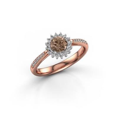 Engagement ring Tilly RND 2 585 rose gold brown diamond 0.50 crt