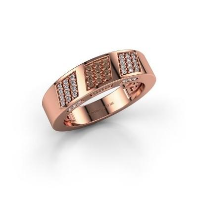 Ring Jessika 375 rosé goud bruine diamant 0.30 crt