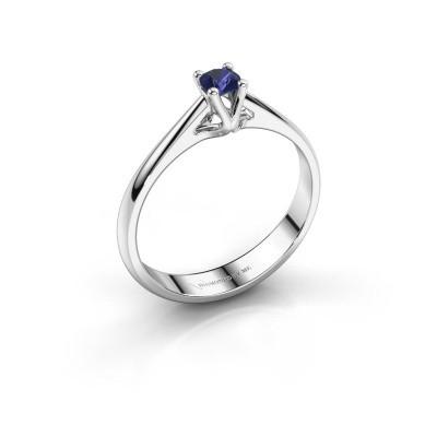 Engagement ring Janna 1 585 white gold sapphire 3.4 mm