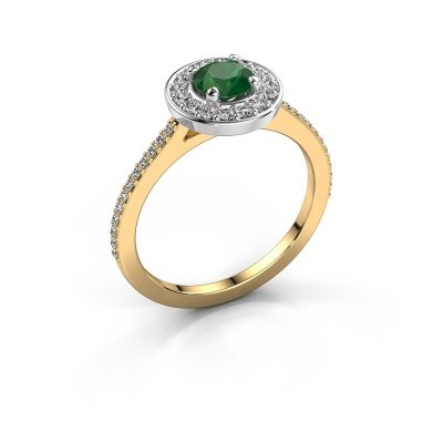 Ring Agaat 2 585 gold emerald 5 mm