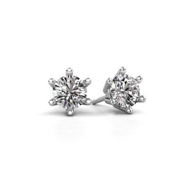 Picture of Earrings Fay 585 white gold diamond 0.15 crt