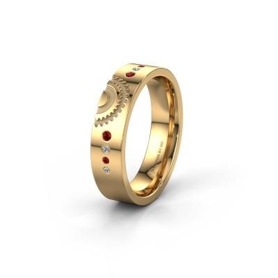 Trouwring WH2116L25A 585 goud robijn ±5x1.7 mm