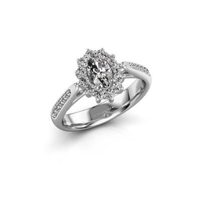 Foto van Verlovingsring Margien 2 925 zilver diamant 0.50 crt