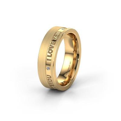 Trouwring WH2076L16CM 585 goud ±6x2.2 mm