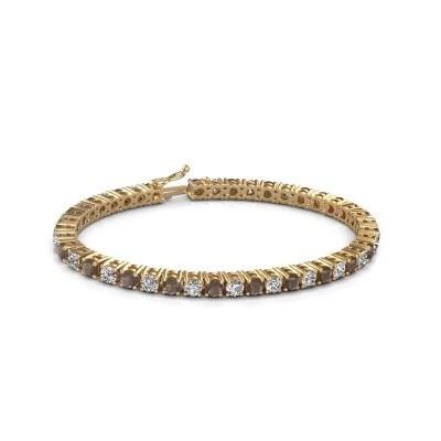 Foto van Tennisarmband Karin 585 goud rookkwarts 4 mm