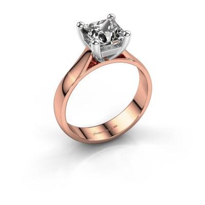 Verlobungsring Sam Square 585 Roségold Diamant 1.00 crt