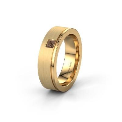 Ehering WH0550L16CMP 585 Gold Braun Diamant ±6x2.2 mm