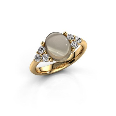 Ring Clarice 585 goud rookkwarts 10x8 mm