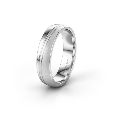 Wedding ring WH0909M25X 925 silver ±5x1.5 mm