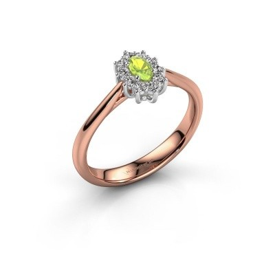 Picture of Engagement ring Leesa 1 585 rose gold peridot 6x4 mm