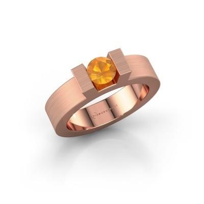 Foto van Ring Leena 1 375 rosé goud citrien 5 mm