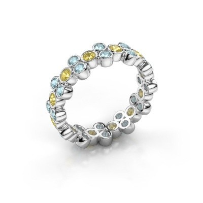 Ring Victoria 925 silver yellow sapphire 2.4 mm