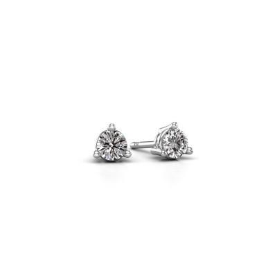 Foto van Oorstekers Somer 585 witgoud diamant 0.25 crt