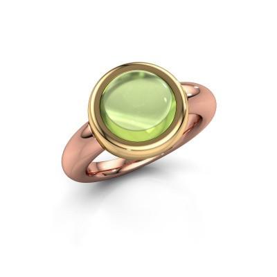 Ring Jenae 585 rosé goud peridoot 10 mm