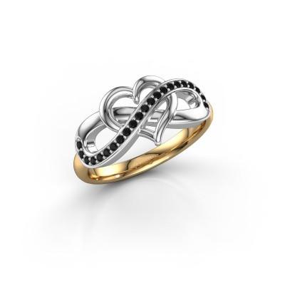 Foto van Ring Yael 585 goud zwarte diamant 0.176 crt