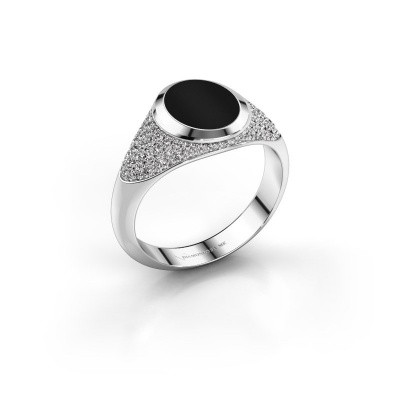 Picture of Signet ring Susana 925 silver onyx 10x8 mm