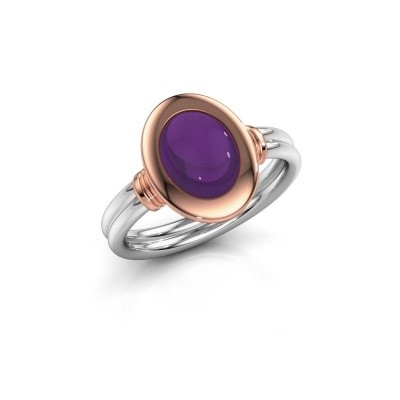 Picture of Ring Brittni 585 white gold amethyst 9x7 mm