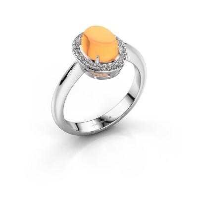 Ring Kristian 950 platina citrien 8x6 mm