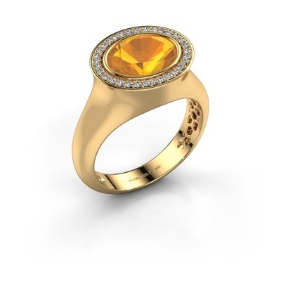 Bague Phebe 585 or jaune citrine 10x8 mm
