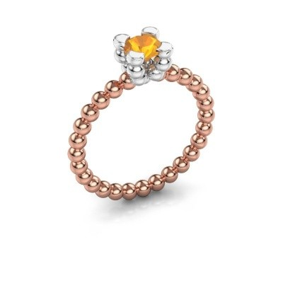 Ring Aurore 585 rosé goud citrien 5 mm