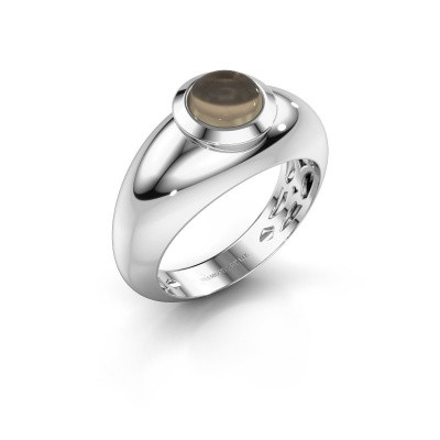 Ring Sharika 585 witgoud rookkwarts 6 mm