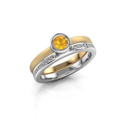 Foto van Ring Cara 585 goud citrien 4 mm