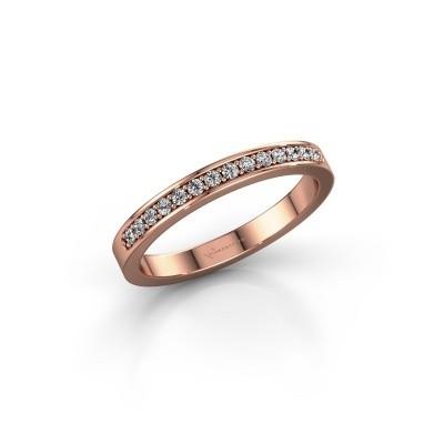 Foto van Aanschuifring SRJ0005B20H6 375 rosé goud lab-grown diamant 0.168 crt
