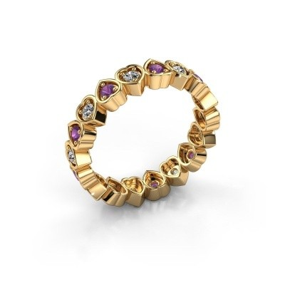 Vorsteckring Pleun 585 Gold Amethyst 2 mm