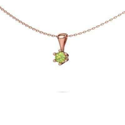 Picture of Necklace Fay 375 rose gold peridot 4 mm