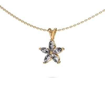 Foto van Ketting Sylvana 375 goud diamant 0.14 crt