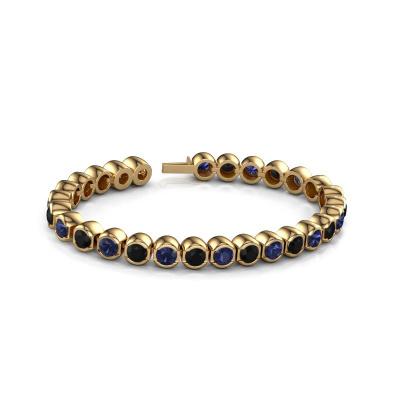 Picture of Tennis bracelet Bianca 5 mm 375 gold black diamond 8.40 crt