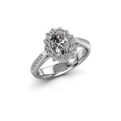 Engagement ring Margien 2 925 silver zirconia 7x5 mm