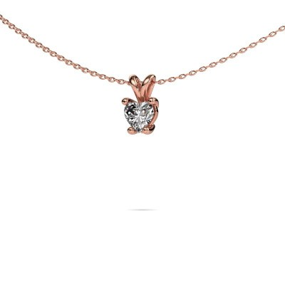 Foto van Ketting Sam Heart 375 rosé goud lab-grown diamant 0.50 crt