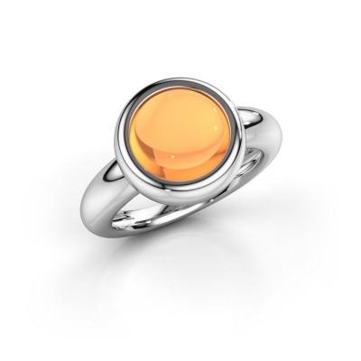 Foto van Ring Jenae 950 platina citrien 10 mm