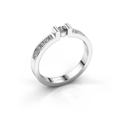 Engagement ring Isabel 2 585 white gold diamond 0.08 crt