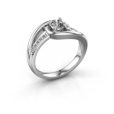 Ring Aylin 950 platina zirkonia 4 mm